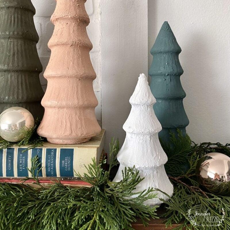 Painted Ceramic Christmas Trees