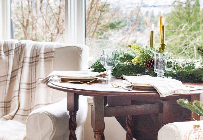 Zevy Joy's Holiday table decor