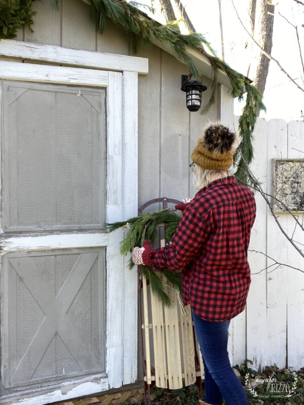 Dressing up a shed for the holidays