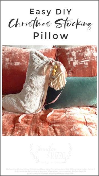 Easy DIY Christmas Stocking Pillow