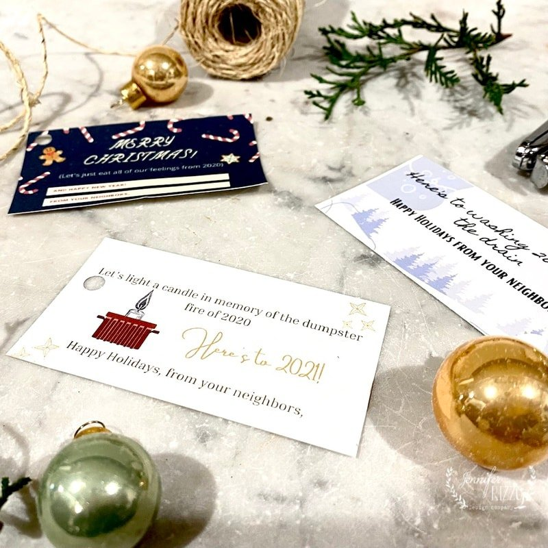 Easy Last Minute Neighbor Gift Ideas with Free Gift Tag Printable