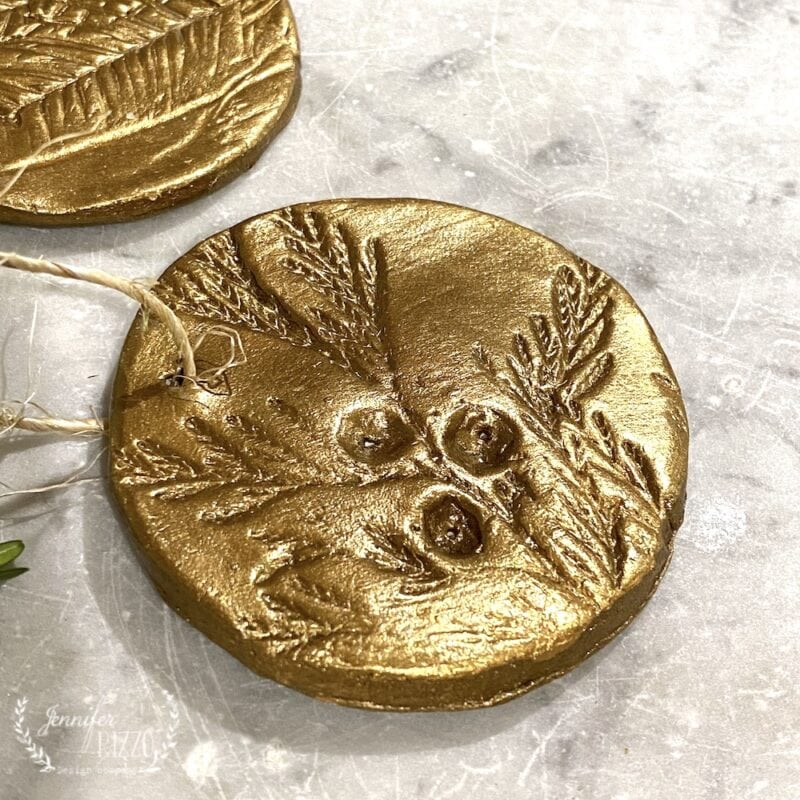 Making botanical pressed brass ornaments