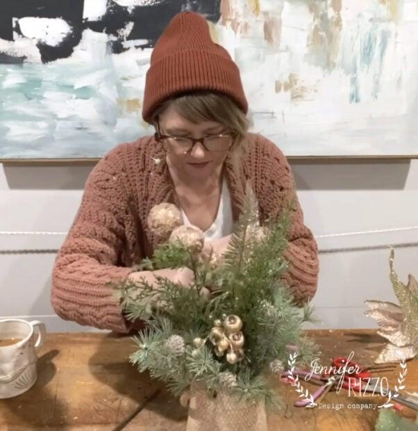 Add fun elements to faux floral arrangements