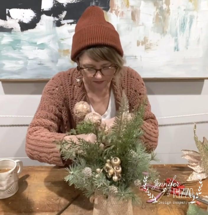 Add fun eleements to faux floral arrangements