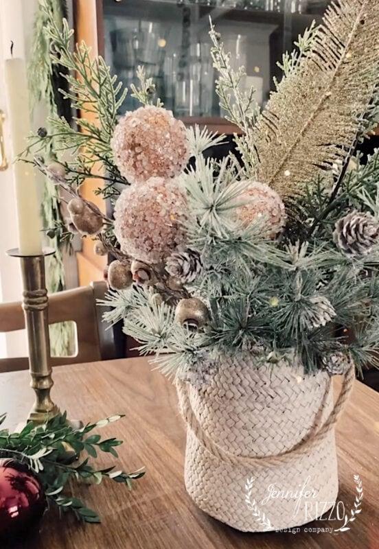Boho Faux Floral Holiday Arrangement