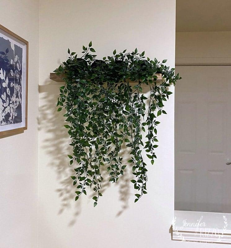 Make a Floating Plant Wall Shelf Malmback Ikea Hack
