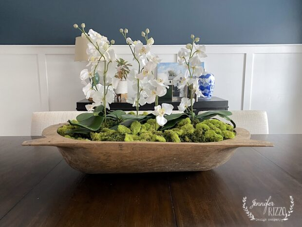 How to style a vintage wood dough bowl
