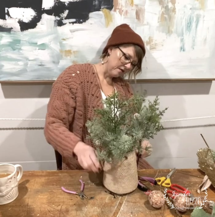 Pre-measure your faux florals before adding to arrangement or cutting