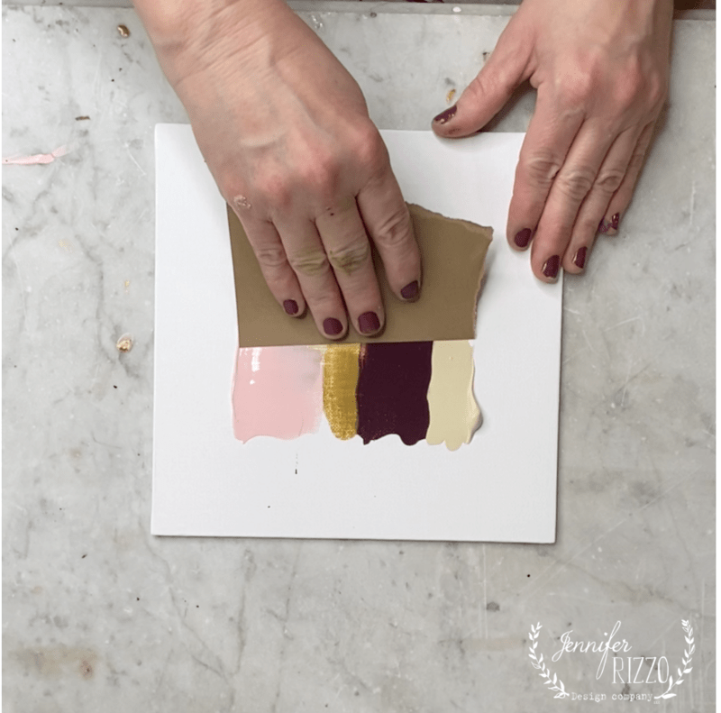No Art Skills Required DIY Pulled Paint Abstract Painting