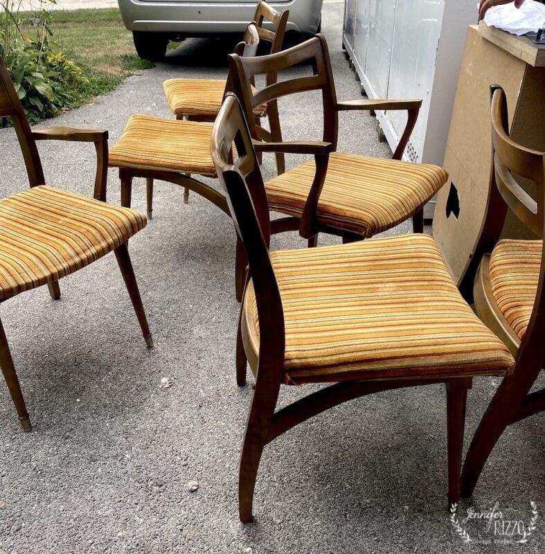 Original vintage mid century modern chairs