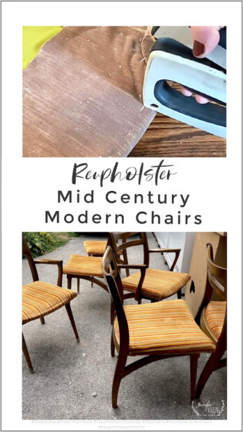 How to reupholster mid century modern chairs in velvet