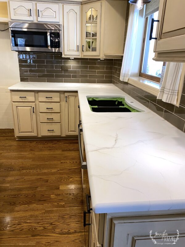 Faux Marble countertop painted granite