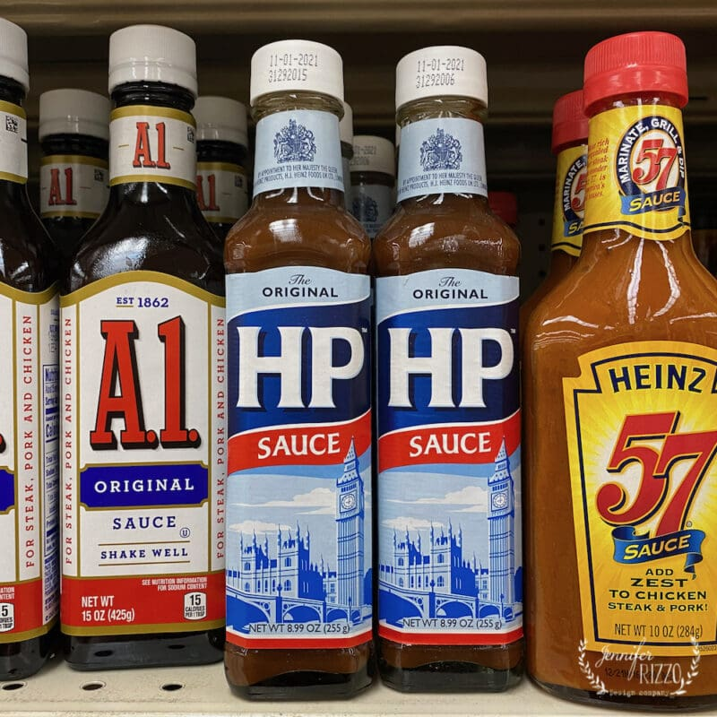 HP sauce for open shelving