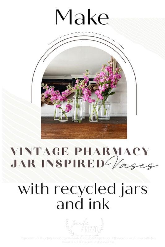 Make vintage pharmacy jar inspired vases