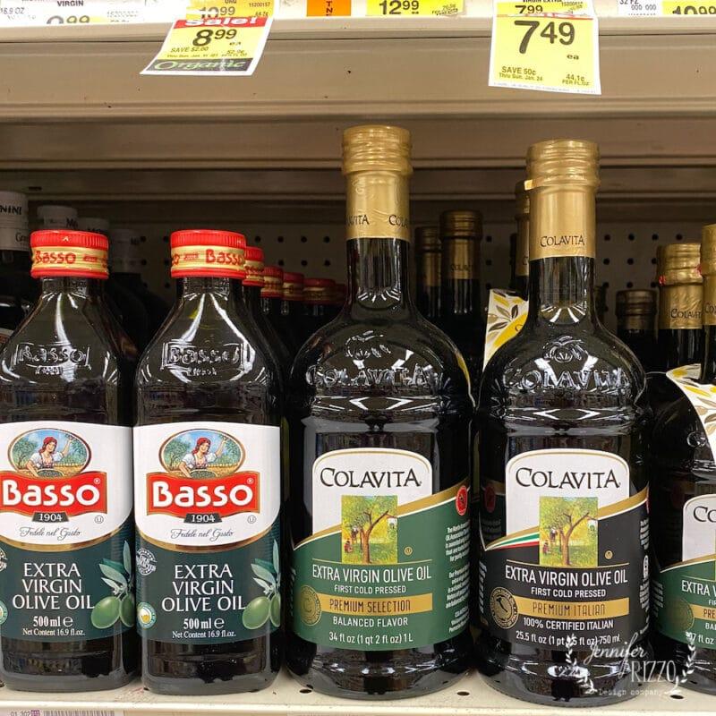 Olive oil for open shelving