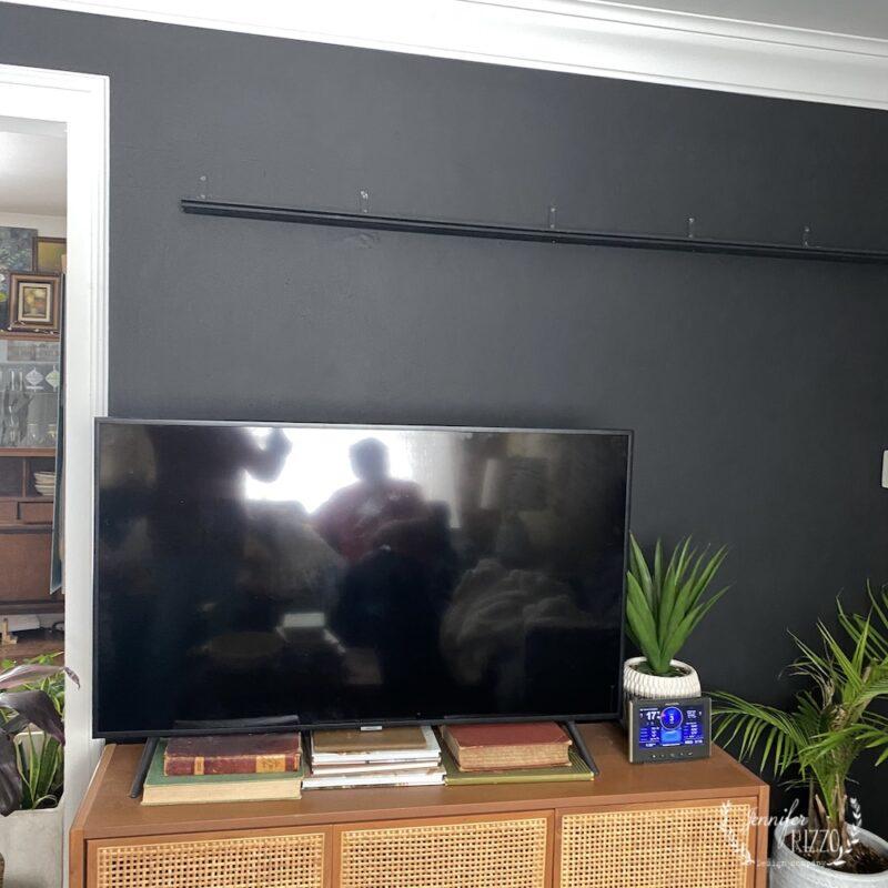 Shelf for living plant wall