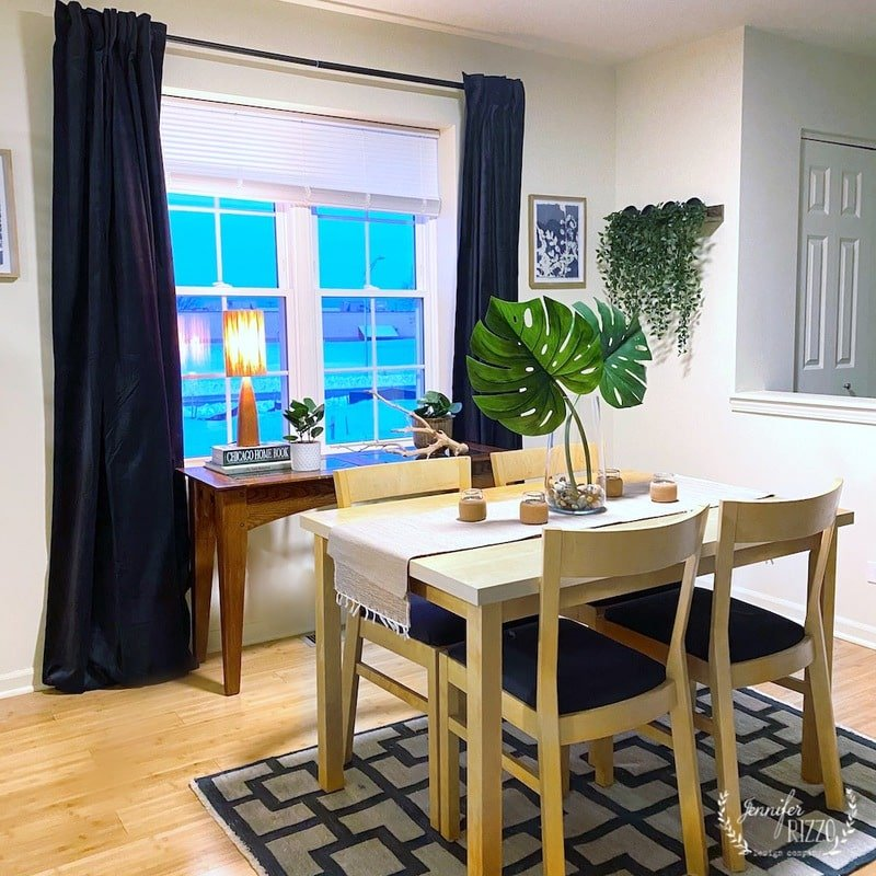 Townhouse Dining Area and Kitchen Before and After