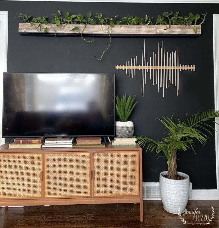 Soundwave modern wood dowel rod art