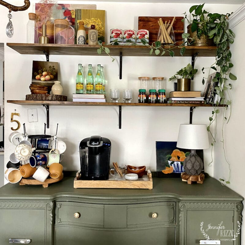How to Style open shelves from the grocery store