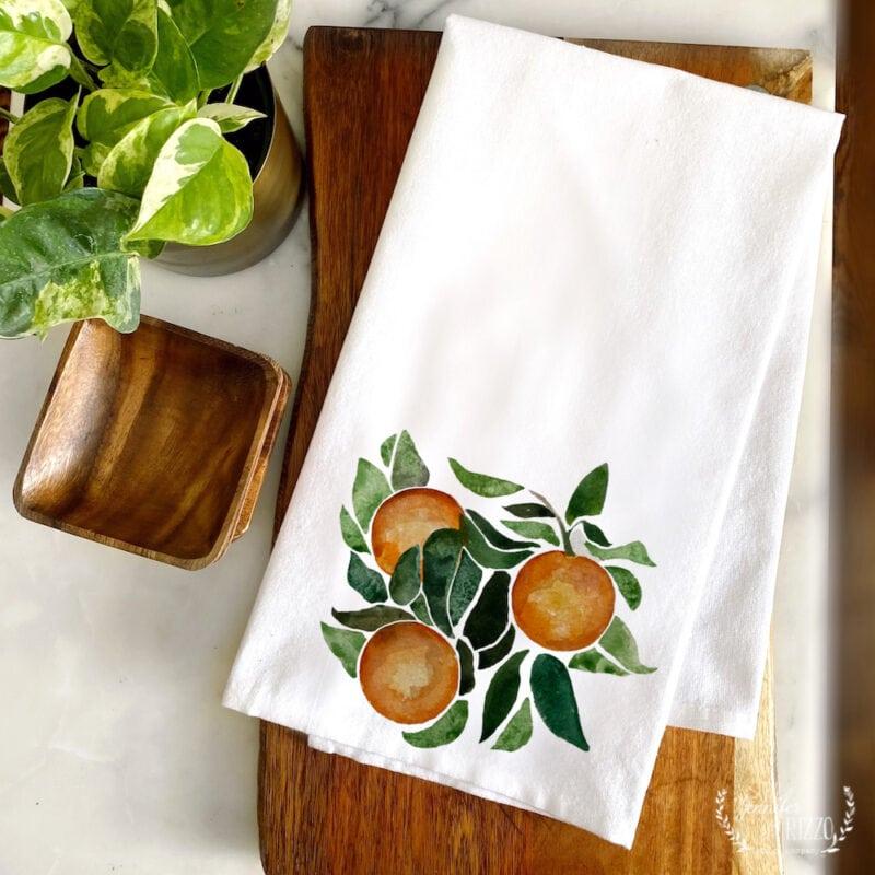 The Orange Grove Towel by Jennifer Rizzo