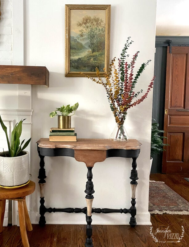 How to paint cerused furniture and bare wood combination