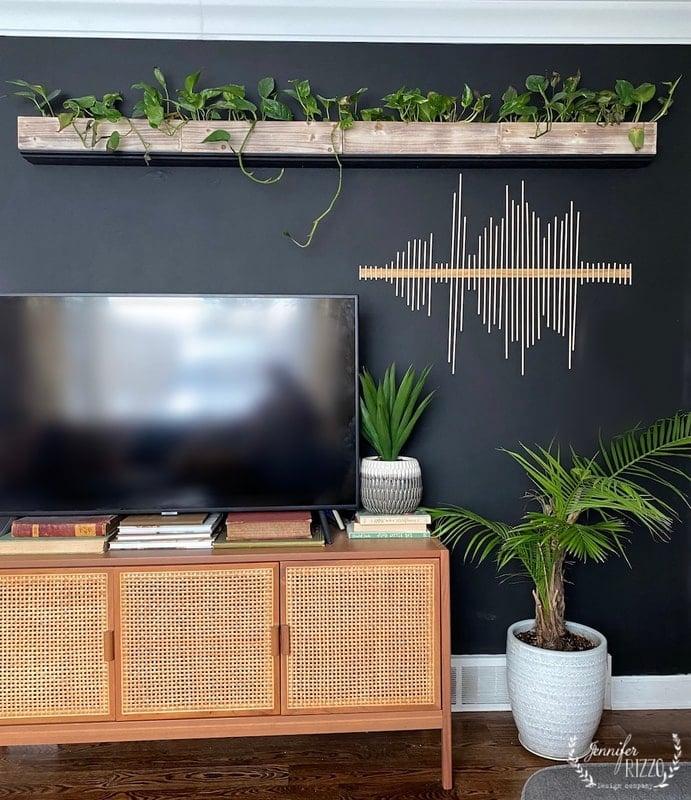 Soundwave Dowel Rod Abstract Modern Wall Art