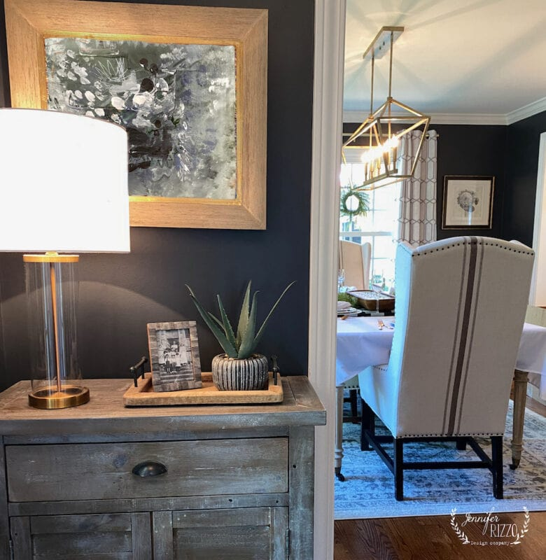 Entry and Dining room dark gray