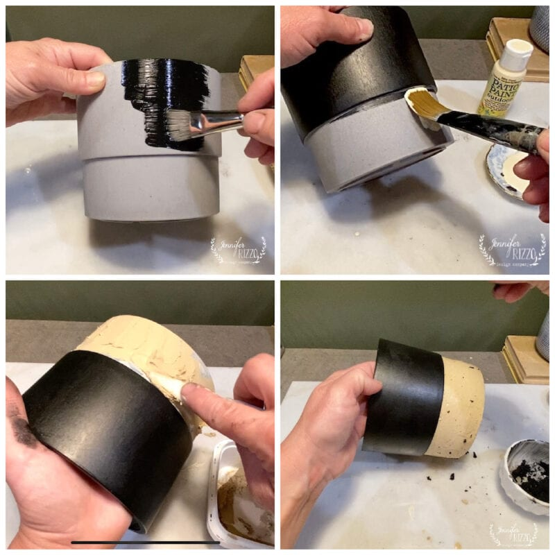 Steps to making plastic pots look like ceramic