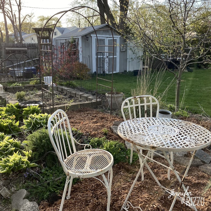 Adding an Arbor in a Raised Bed Garden Area