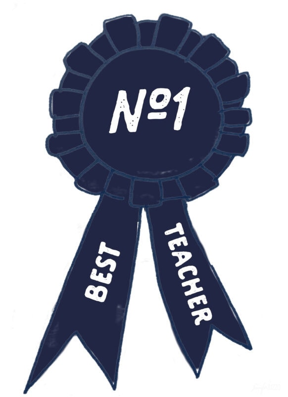 Best Teacher Award Number 1 Free Printable