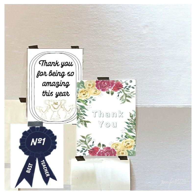 Thank you Teacher Card Free Printables