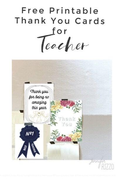 Free thank you teacher cards printables for teacher gift ideas