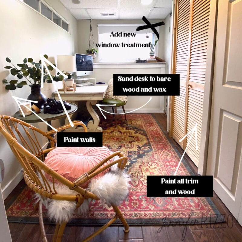 Future office makeover ideas for a small basement office