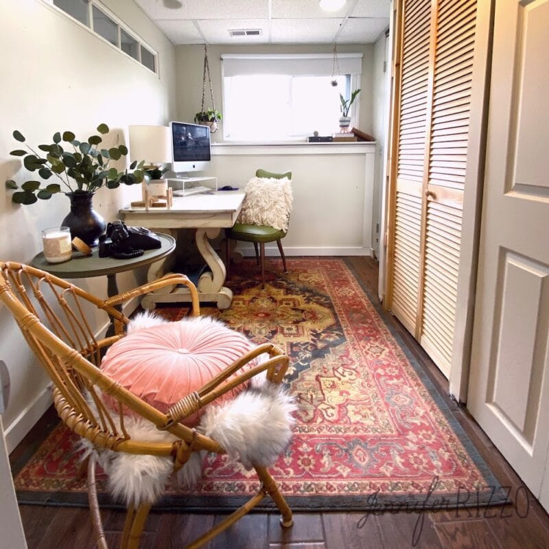 Long view small office makeover with shop your house