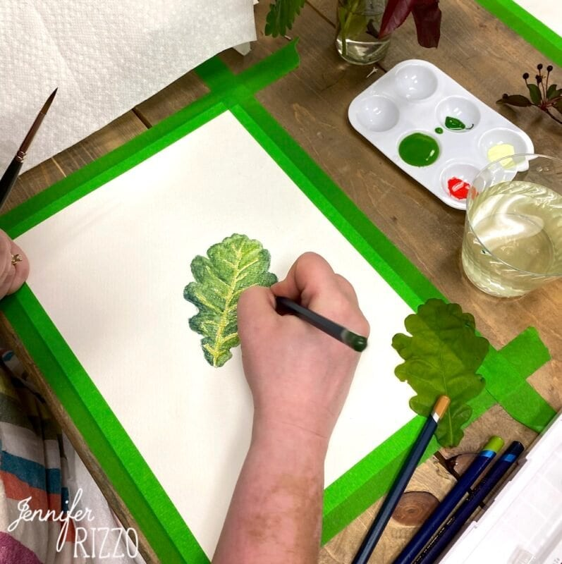 Painting Oak Leaves