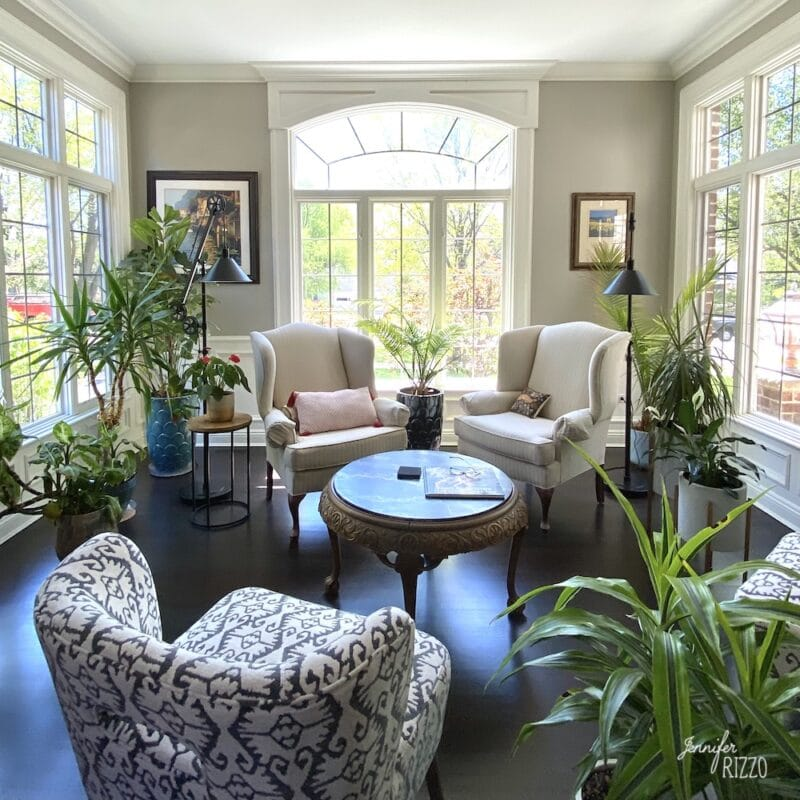 Traditional Living room with Conservatory style