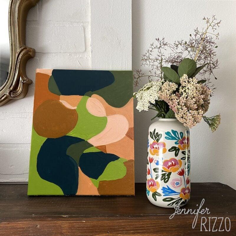 Easy LIne Fill Abstract Art DIY