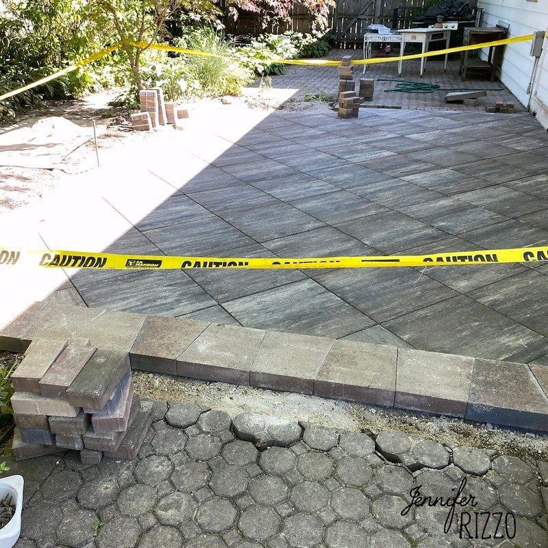 Our New Paver Patio Install