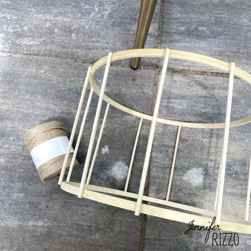 Make DIY hanging lanterns with dowel rods embroidery hoops and twine