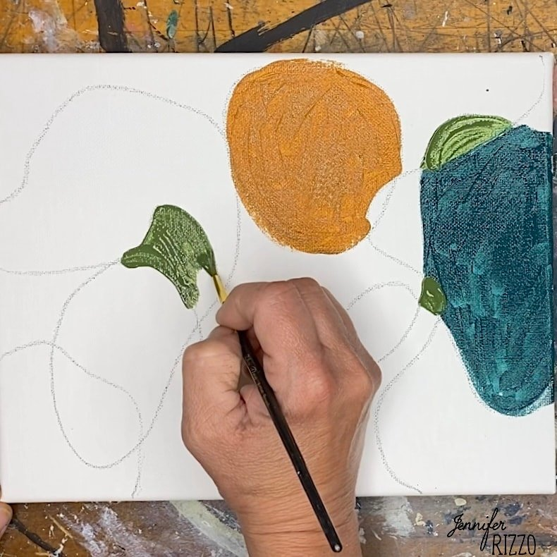 Paint and create easy abstract art using a grade school technique