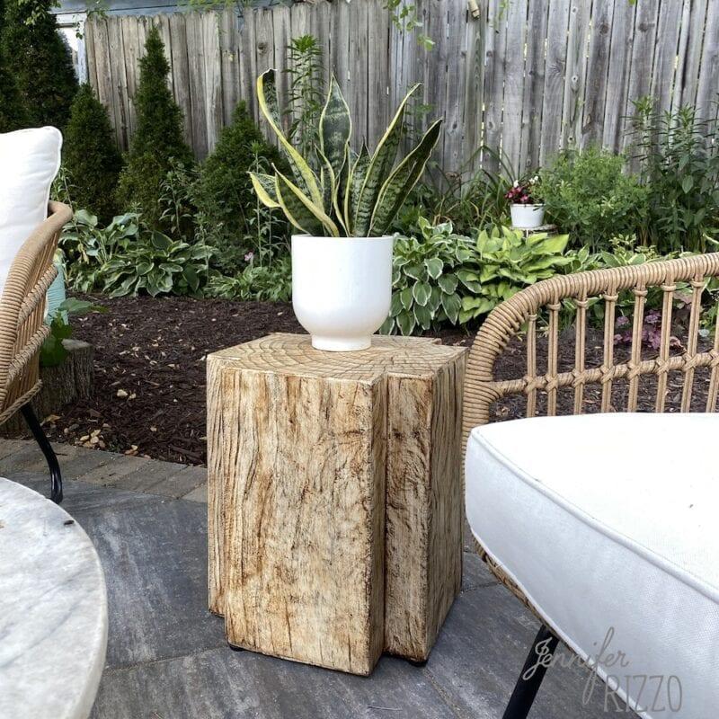 Studio Mcgee outdoor table wood look table