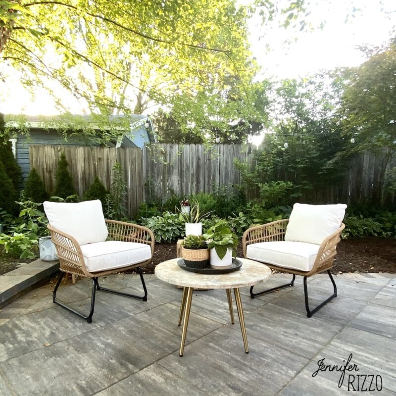 Studio Mcgee patio furniture and Project 62 Rattan loungers