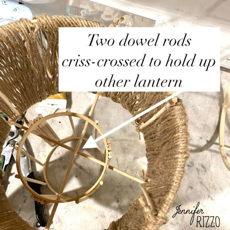 Use dowel rods to hold other pieces together