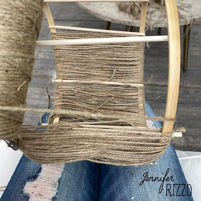 Wrap twine in different patterns