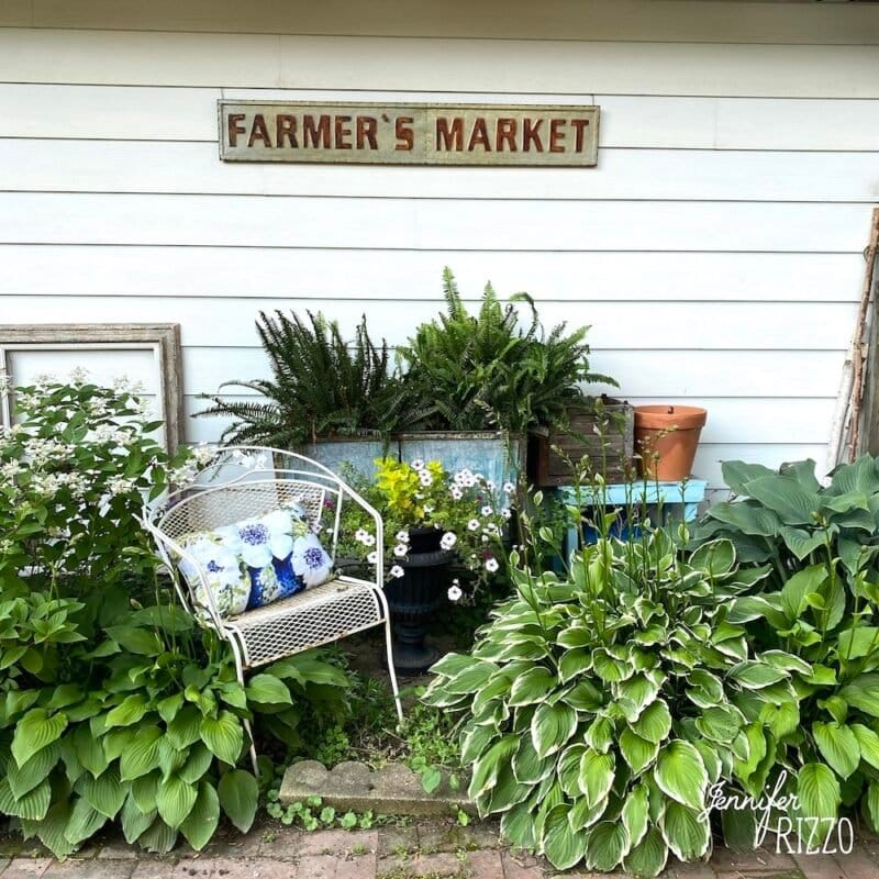 Create vignettes in a garden for interest adn scenery