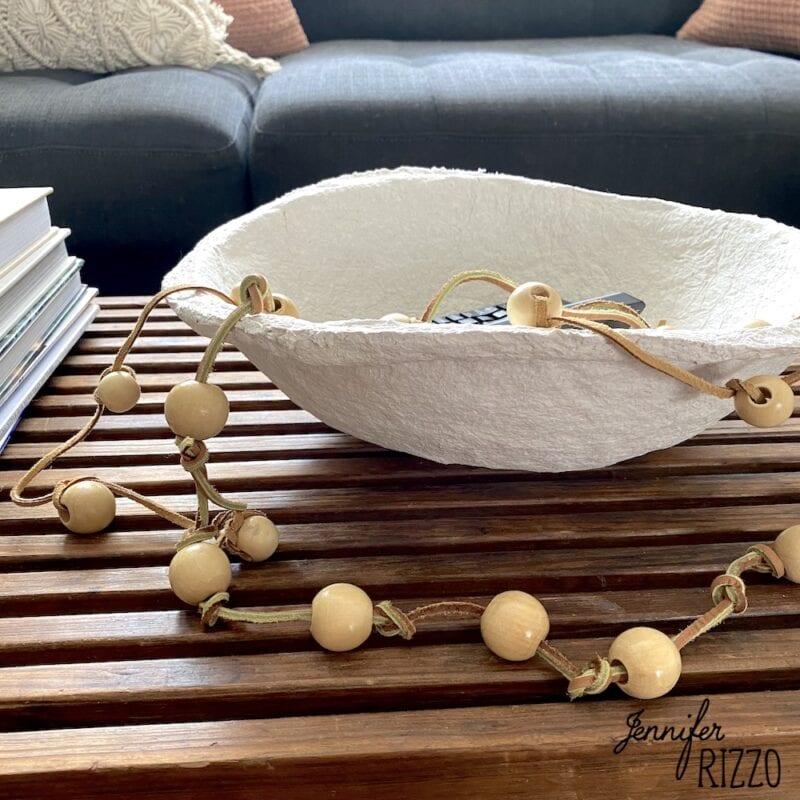 Make a DIY paper mache bowl