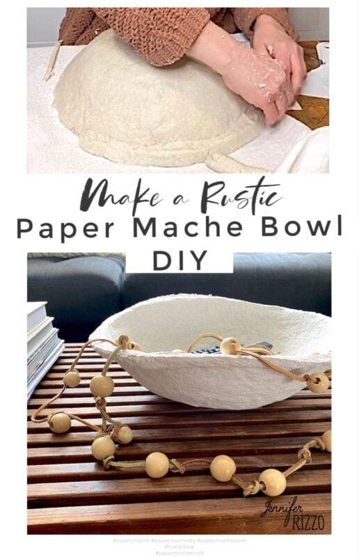 Make a rustic DIY Paper mache bowl