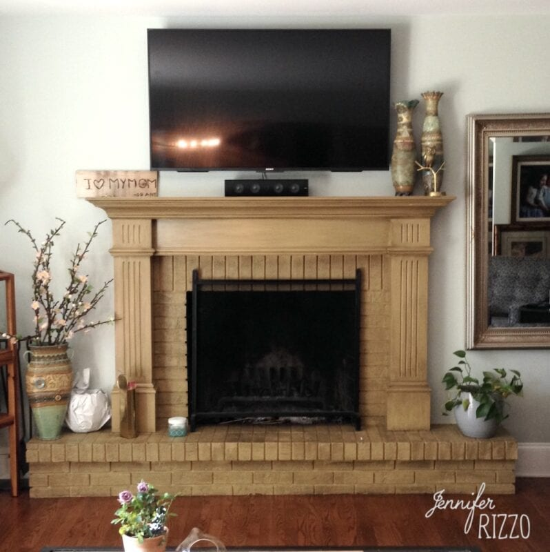 Natural Wood fireplace surround before painting