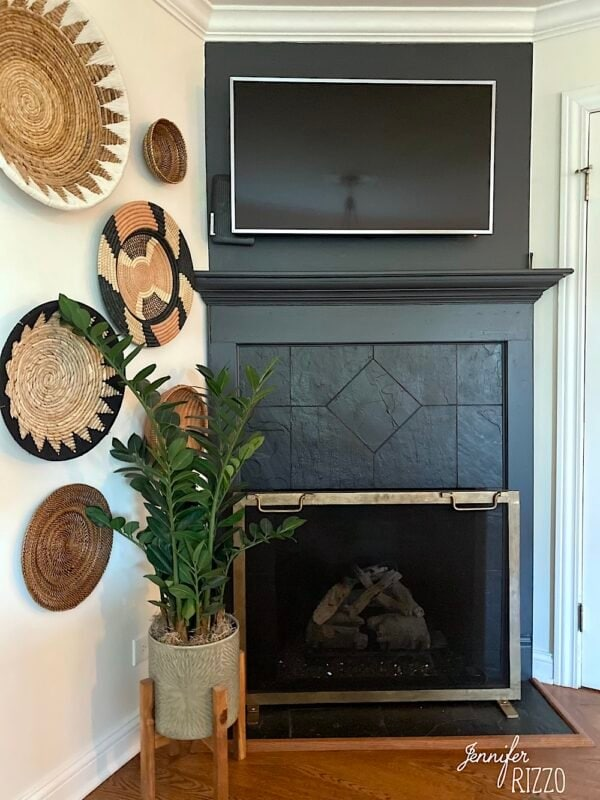 Painting the ceramic tile with high temp paint around a fireplace