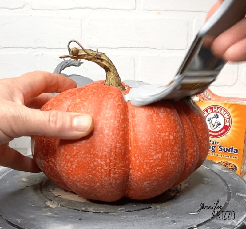 Trash to terra cotta DIY painted pumpkin